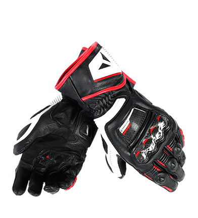 Comprar Dainese Druid D1 Long leather gloves black, red, white