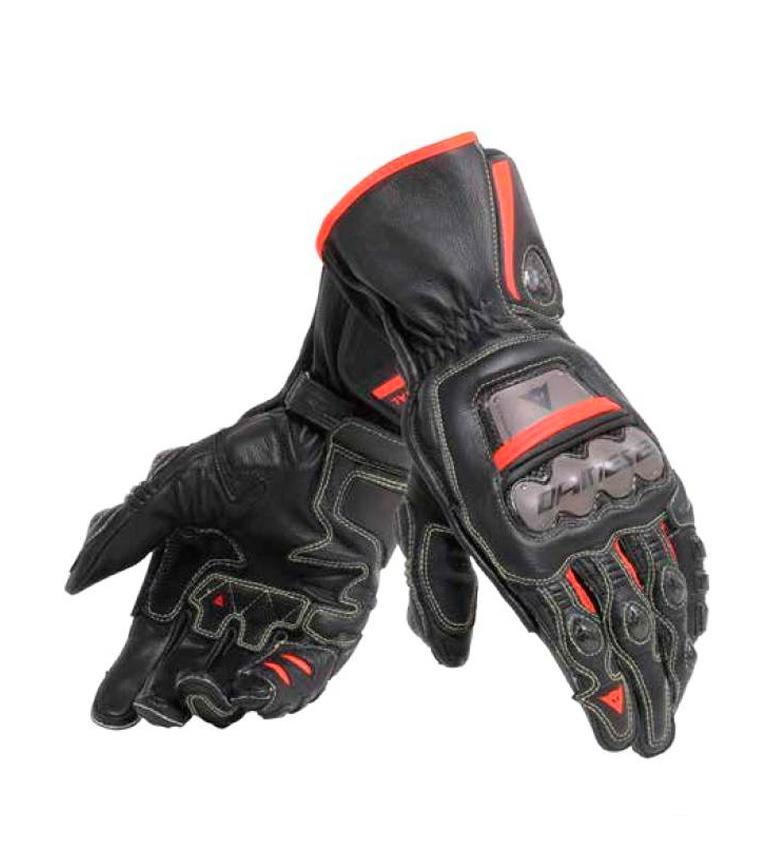 Comprar Dainese Luvas de couro Full Metal 6, preto, vermelho