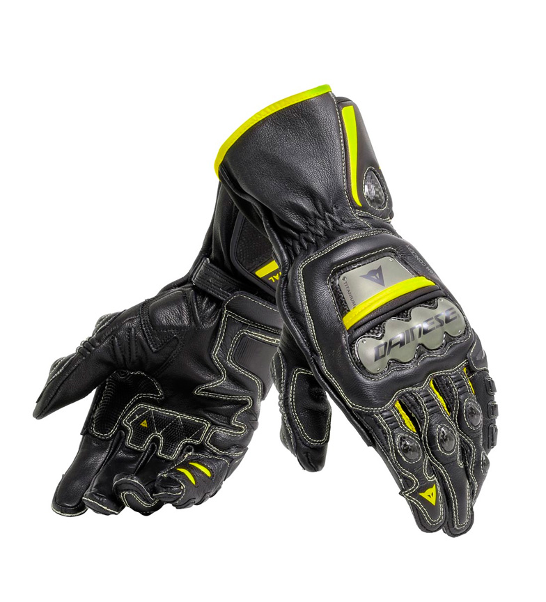 Comprar Dainese Leather Gloves Full Metal 6 black, fluorine yellow