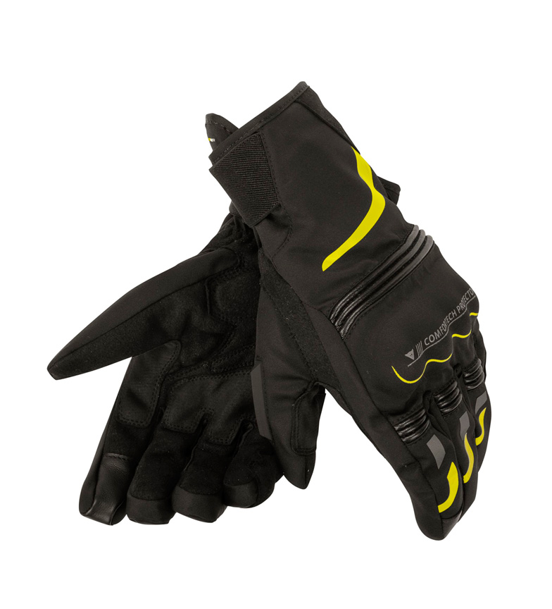 Comprar Dainese Guantes Tempest Unisex Dry Long negro, amarillo flúor