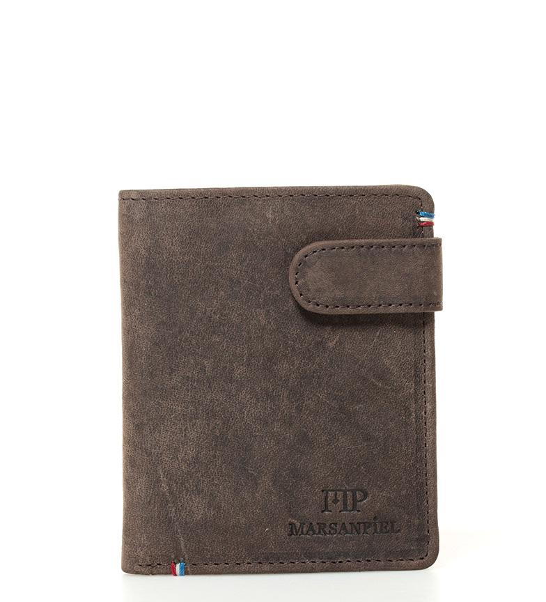 Comprar Marsan Piel Couro marrom carteira Virginia -10,5x8x1cm-