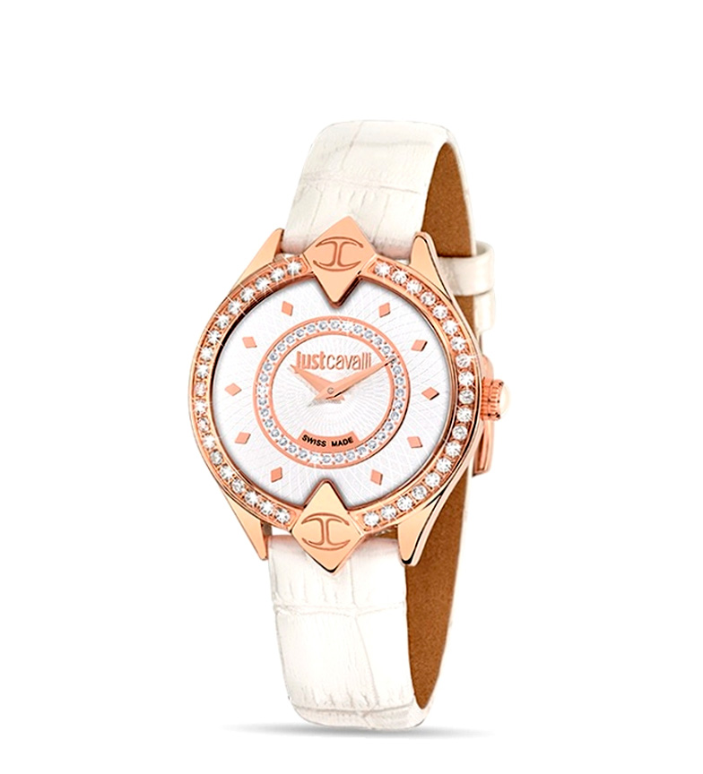 Comprar Just Cavalli JUST CAVALLI Mod. SPHINK Lady SWISS MADE PVD Rose Gold Case With strass Leather Strap 35mm 5ATM