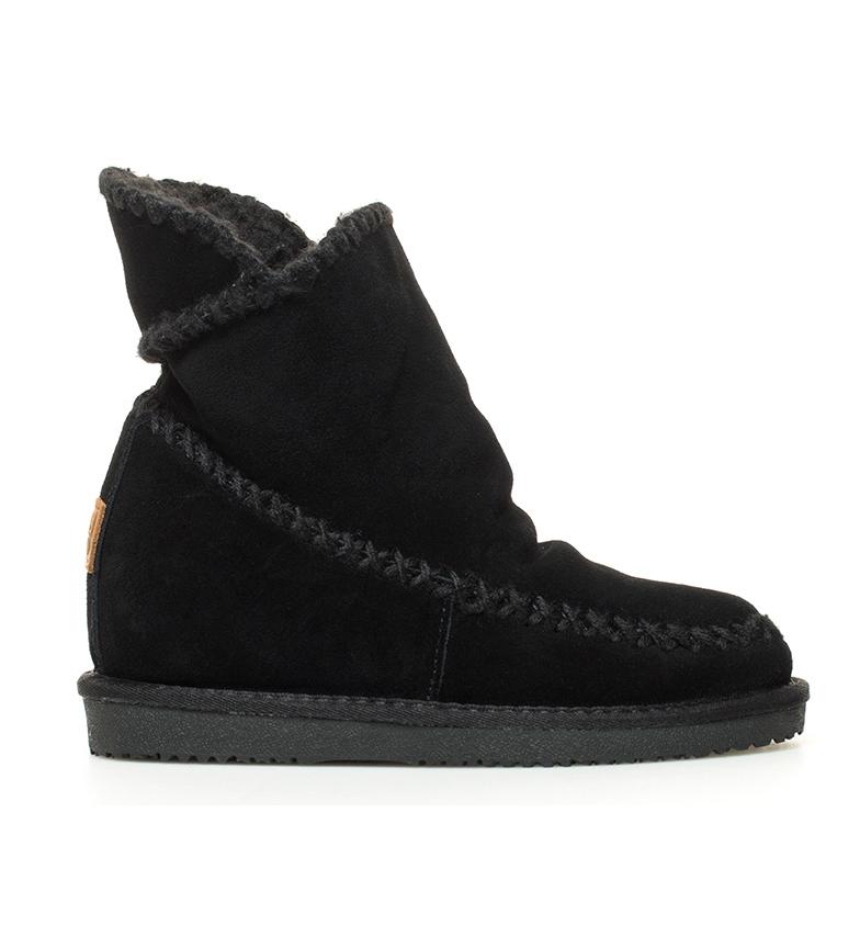 Comprar Gioseppo Botas de piel Josca negro -Altura cuña interna + suela: 7cm-