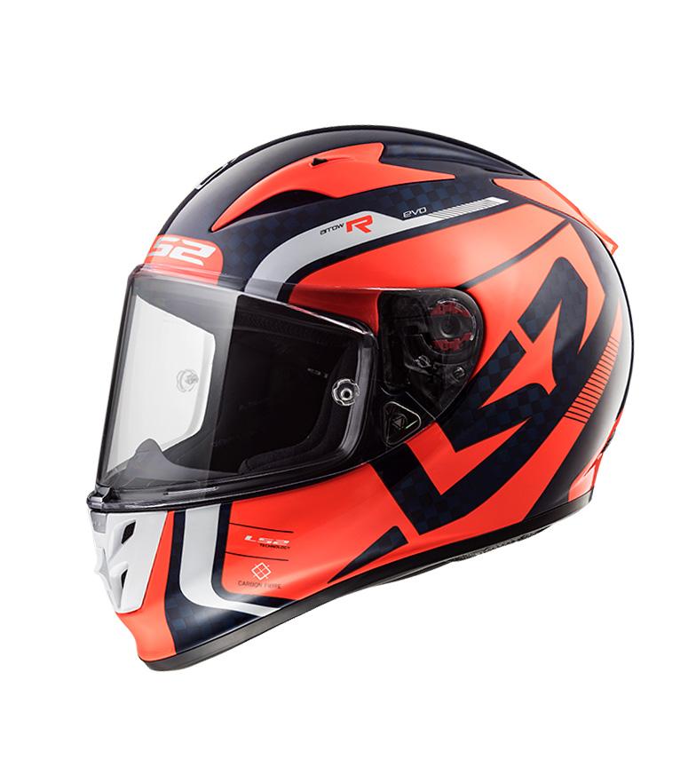 Comprar LS2 Helmets Casco integral  Arrow C Evo FF323 Sting Blue Fluo Orange Pinlock Max Vision incluido