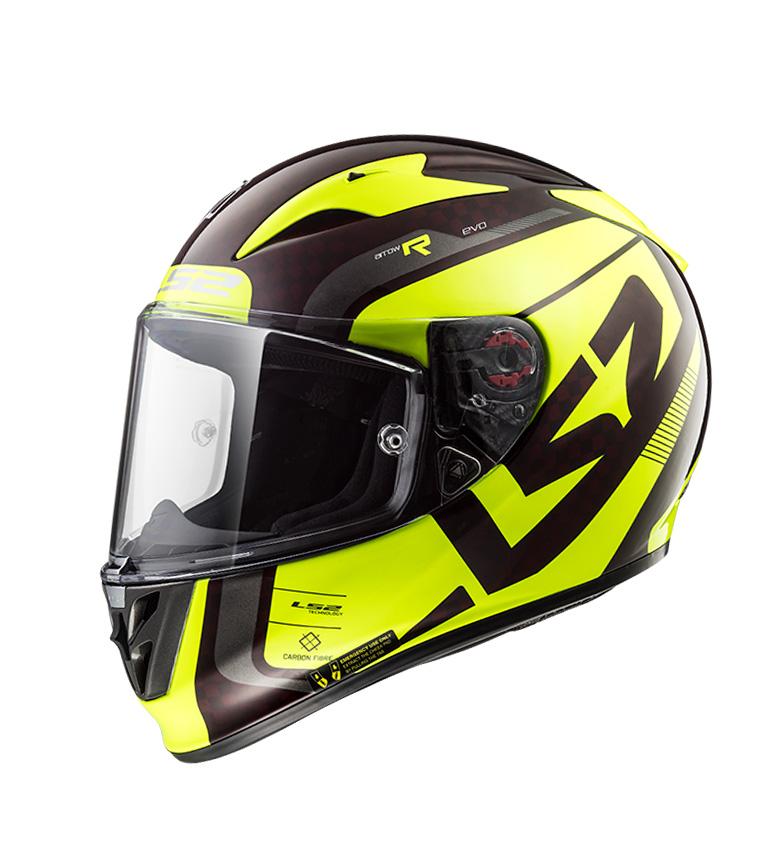 Comprar LS2 Helmets Casco integral Arrow C Evo FF323 Sting Wineberry H-V Yellow Carbon Pinlock Max Vision incluido