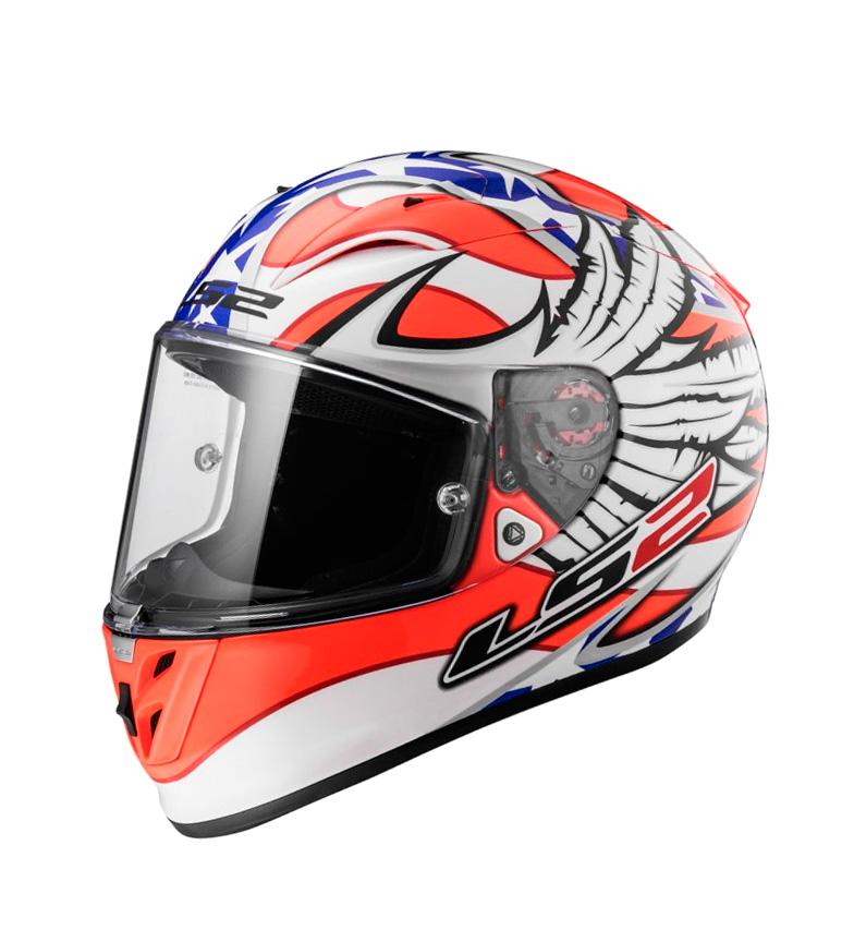 Comprar LS2 Helmets Integral helmet Arrow R Evo FF323 Freedom White Orange Blue Pinlock Max Vision included blue, white, orange