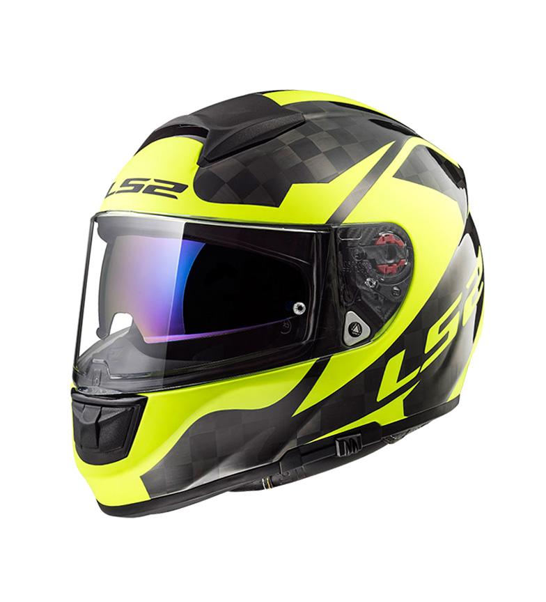 Comprar LS2 Helmets Casco integral Vector C FF397 Shine Carbon H-V Yelow Pinlock Max Vision incluido