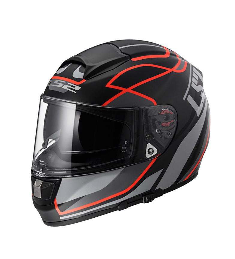 Comprar LS2 Helmets Vector Casco integrale HPFC Evo FF397 Vantage nero opaco Pinlock Max Vision rosso incluso