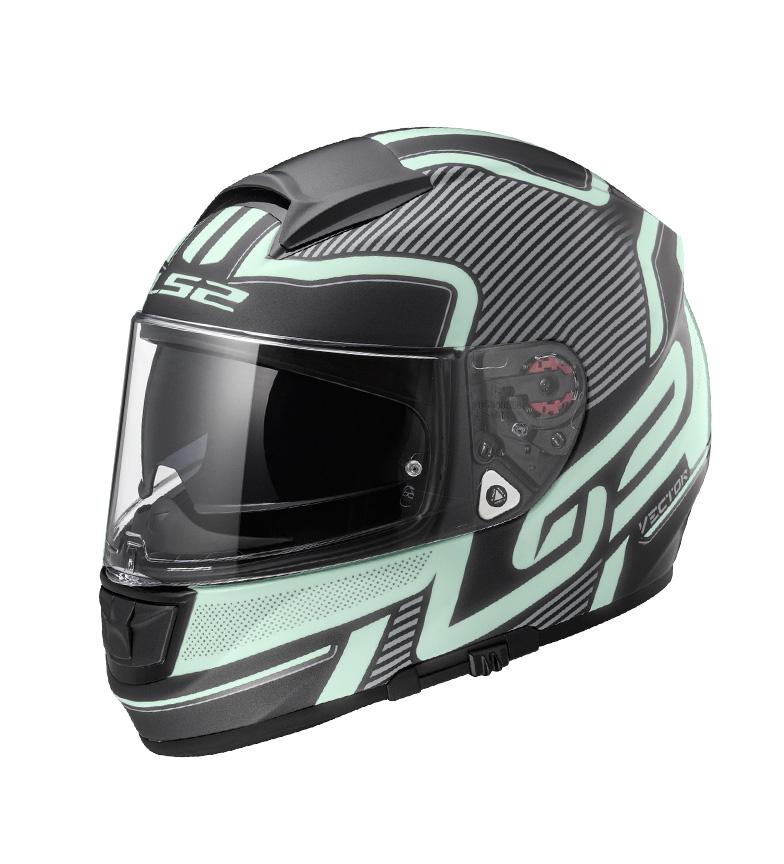 Comprar LS2 Helmets Casco integral Vector HPFC Evo FF397 Orion Matt Black Light Pinlock Max Vision incluido