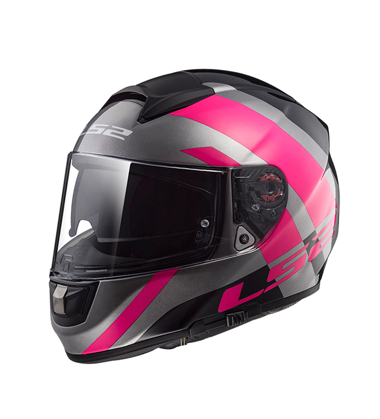Comprar LS2 Helmets Casco integral Vector HPFC Evo FF397 Trident Titanium Pink Pinlock Max Vision incluido