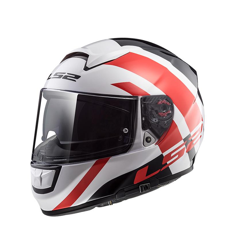 Comprar LS2 Helmets Casco integral Vector HPFC Evo FF397 Trident White Red Pinlock Max Vision incluido