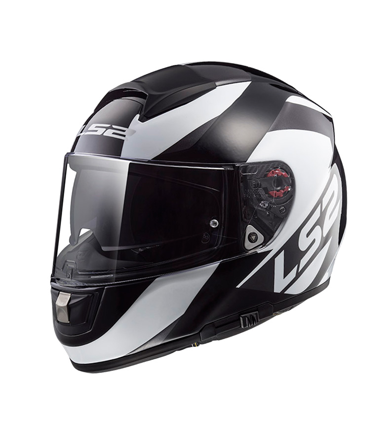 Comprar LS2 Helmets Capacete HPFC Evo FF397 Full-face Vector Ondulado Preto Titânio Branco Pinlock Max Vision incluído
