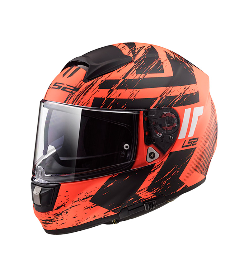 Comprar LS2 Helmets Casco integral Vector HPFC Evo FF397 Hunter Matt Fluo Orange BlackPinlock Max Vision incluido
