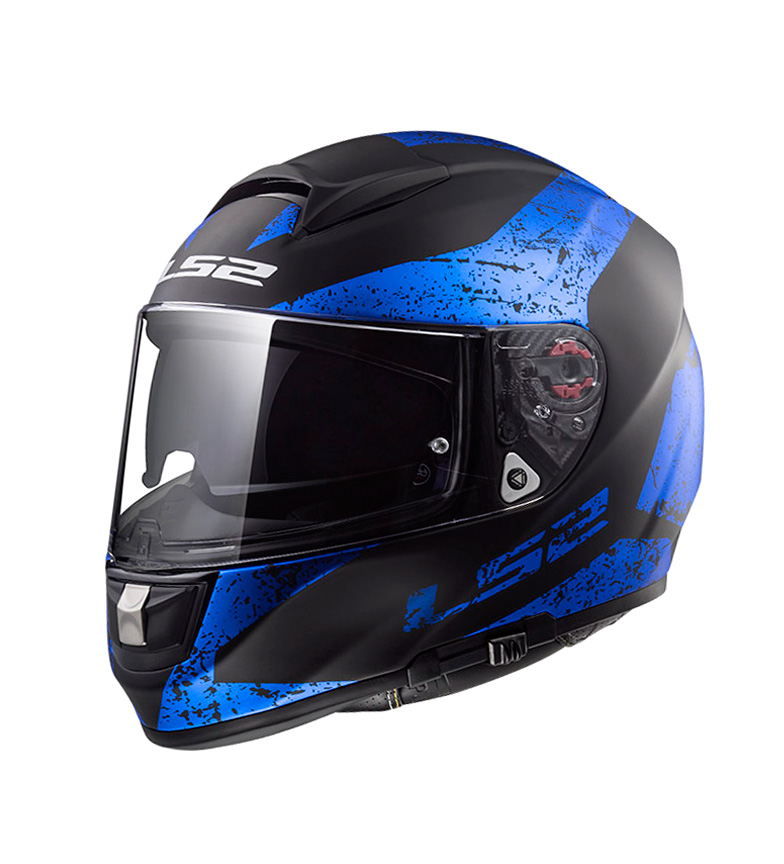 Comprar LS2 Helmets Casco integral Vector HPFC Evo FF397 Sign Matt Black BluePinlock Max Vision incluido