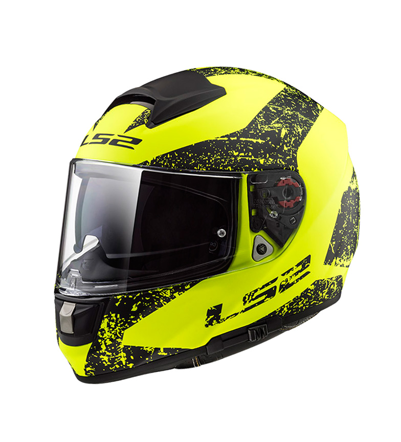 Comprar LS2 Helmets Casco integral Vector HPFC Evo FF397 Sign Matt H-V Yellow BlackPinlock Max Vision incluido
