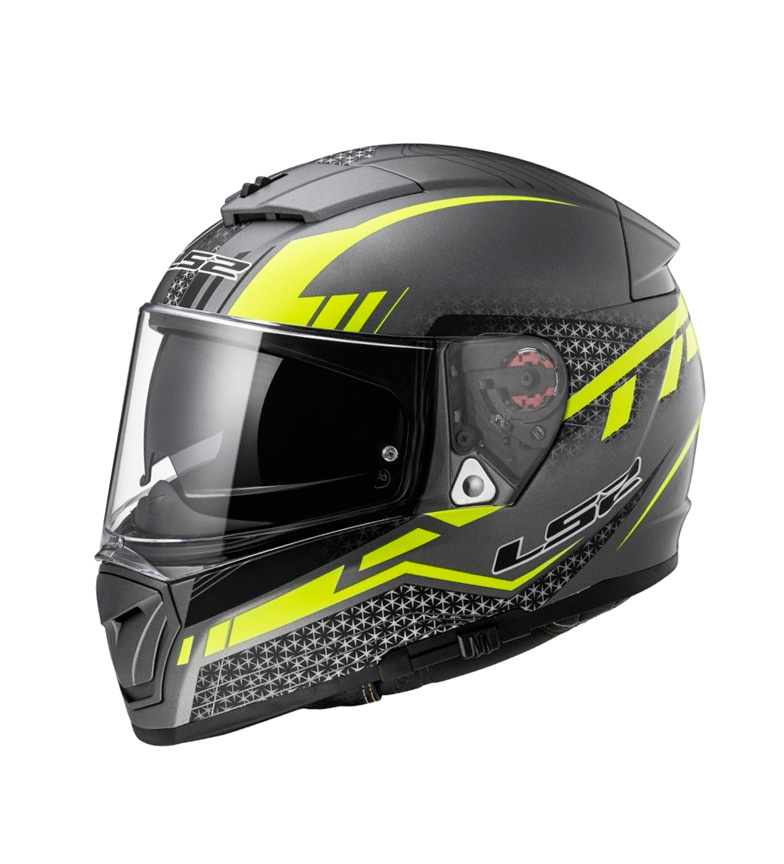 Comprar LS2 Helmets Integral helmet Breaker FF390 Split Matt Titanium HV Yellow Pinlock Max Vision included
