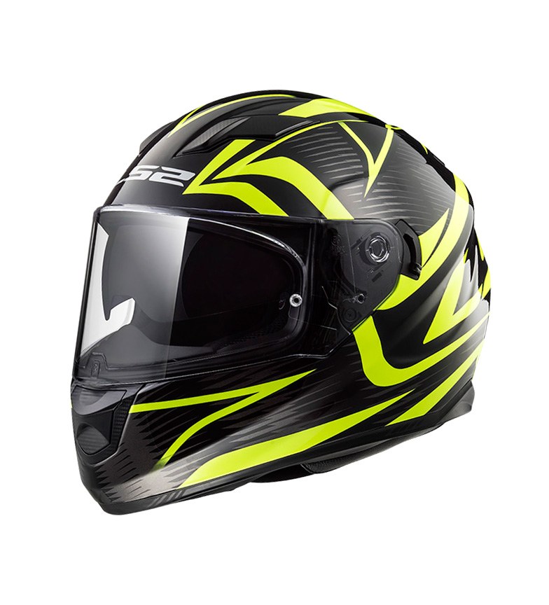Comprar LS2 Helmets Casco integral Stream Evo FF320 Jink Matt Black H-V Yellow
