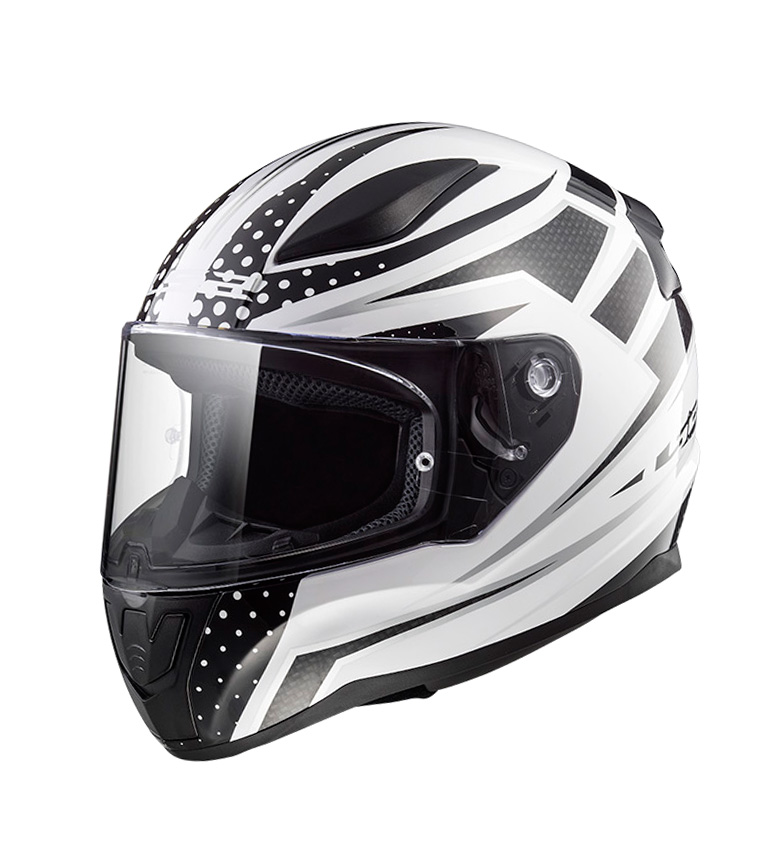 Comprar LS2 Helmets Casco integral Rapid FF353 Carborace White Black