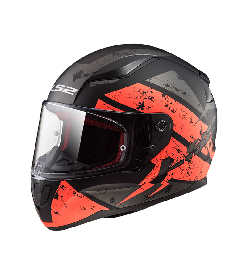 Comprar LS2 Helmets Casco integral Rapid FF353 Deadbolt Matt Black Orange