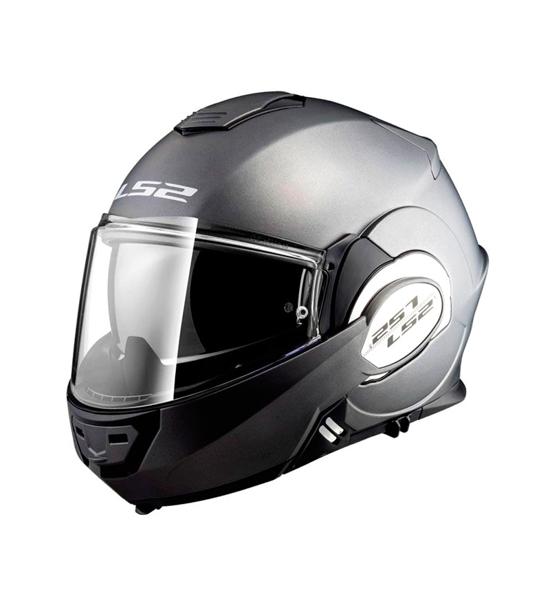 Comprar LS2 Helmets Valiant FF399 solido titanio opaco opaco casco modulare