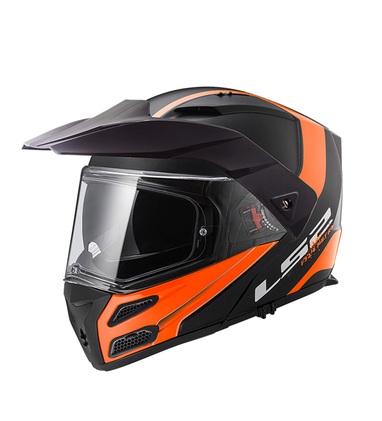 Comprar LS2 Helmets Casco modular Metro Evo FF324 Rapid Matt Black Orange
