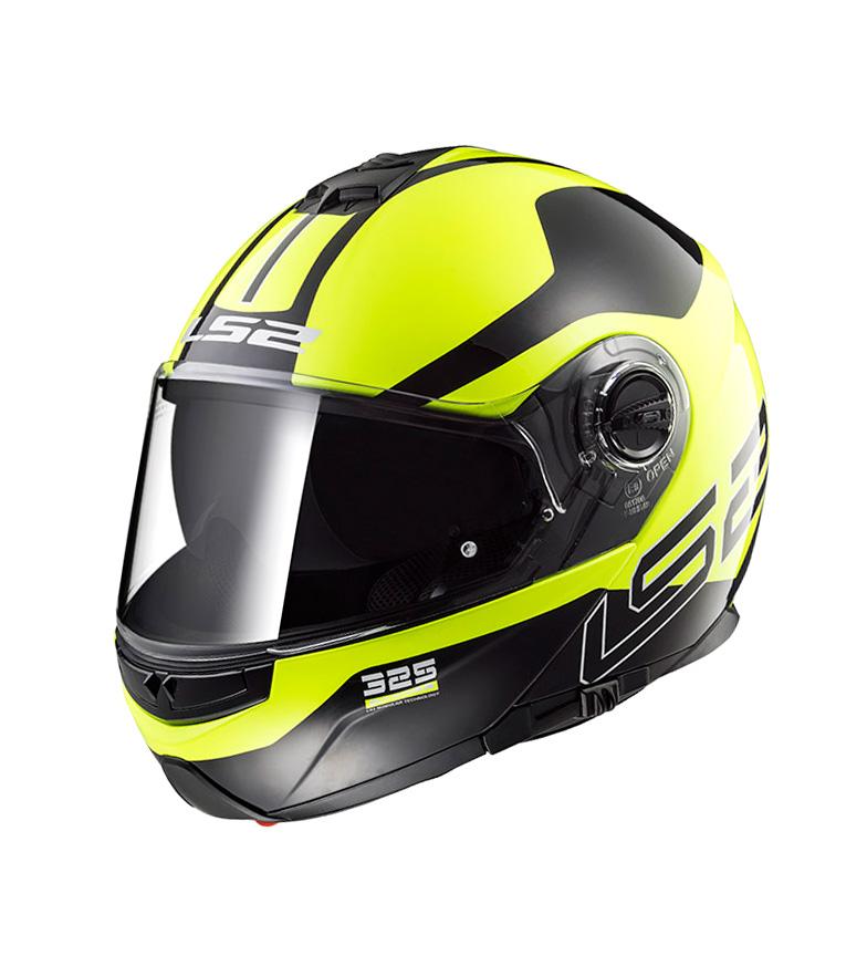 Comprar LS2 Helmets Casco modular Strobe FF325 Black H-V Yellow
