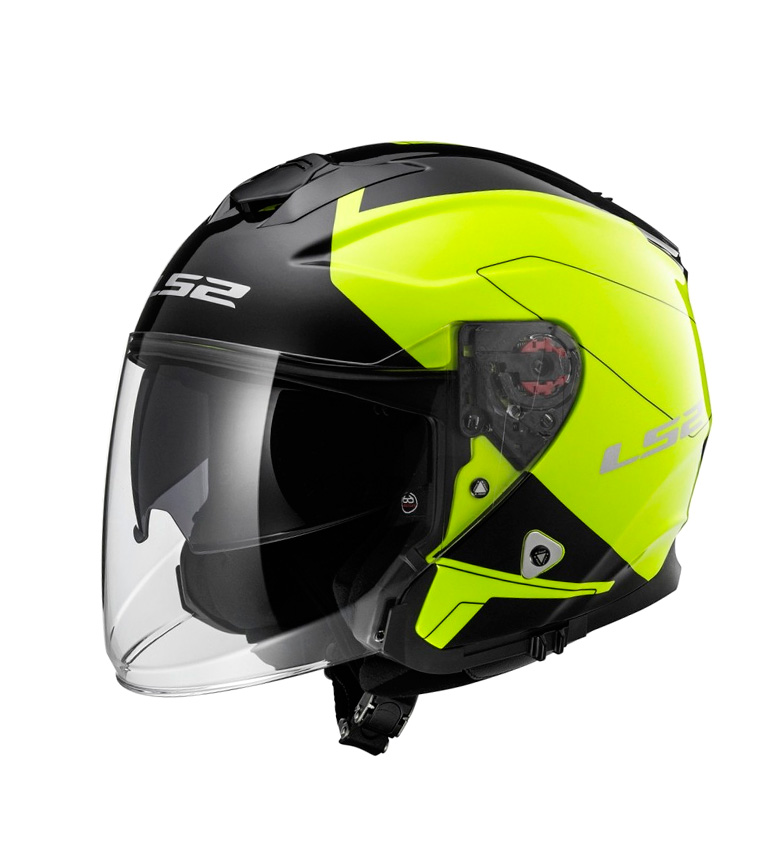 Comprar LS2 Helmets Infinity Jet Hull OF521 Beyond Black HV Yellow