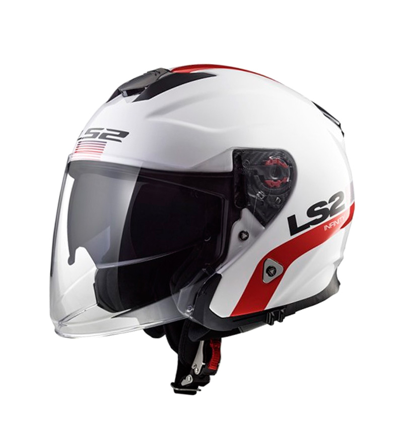 Comprar LS2 Helmets Helmet Jet Infinity OF521 Smart White Red Blue