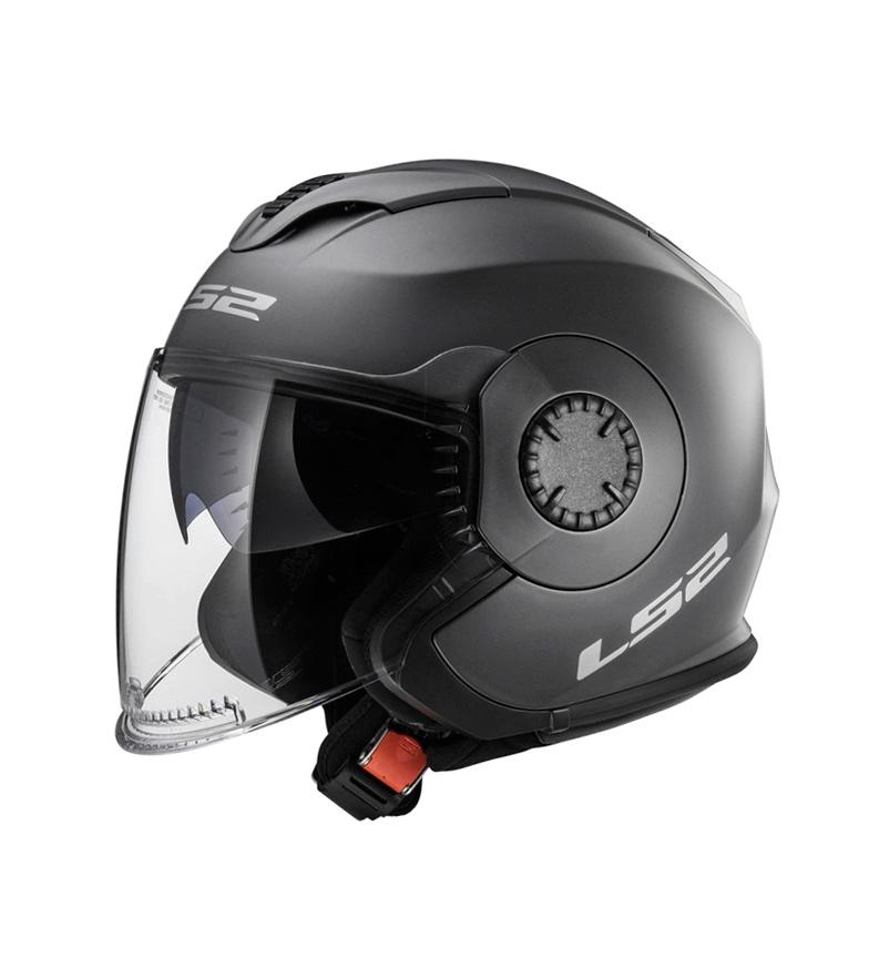 Comprar LS2 Helmets Capacete Jet Verso OF570 Solid Matt Titanium