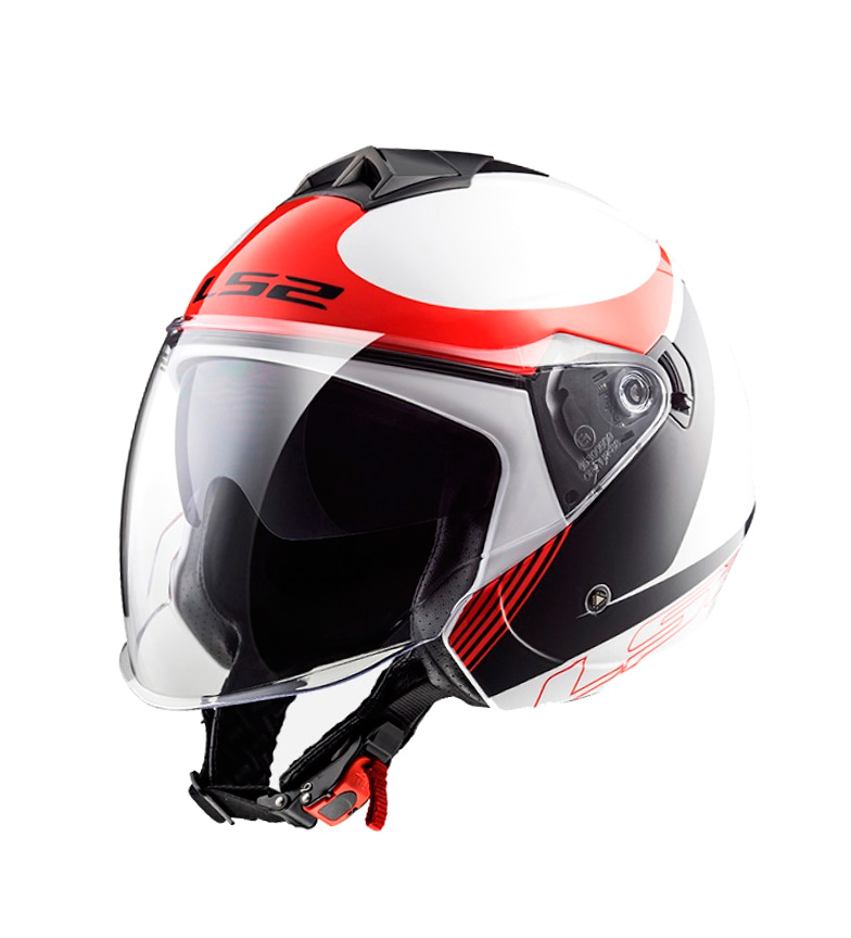 Comprar LS2 Helmets Casque jet OF573 Twister Splane Blanc Noir Rouge