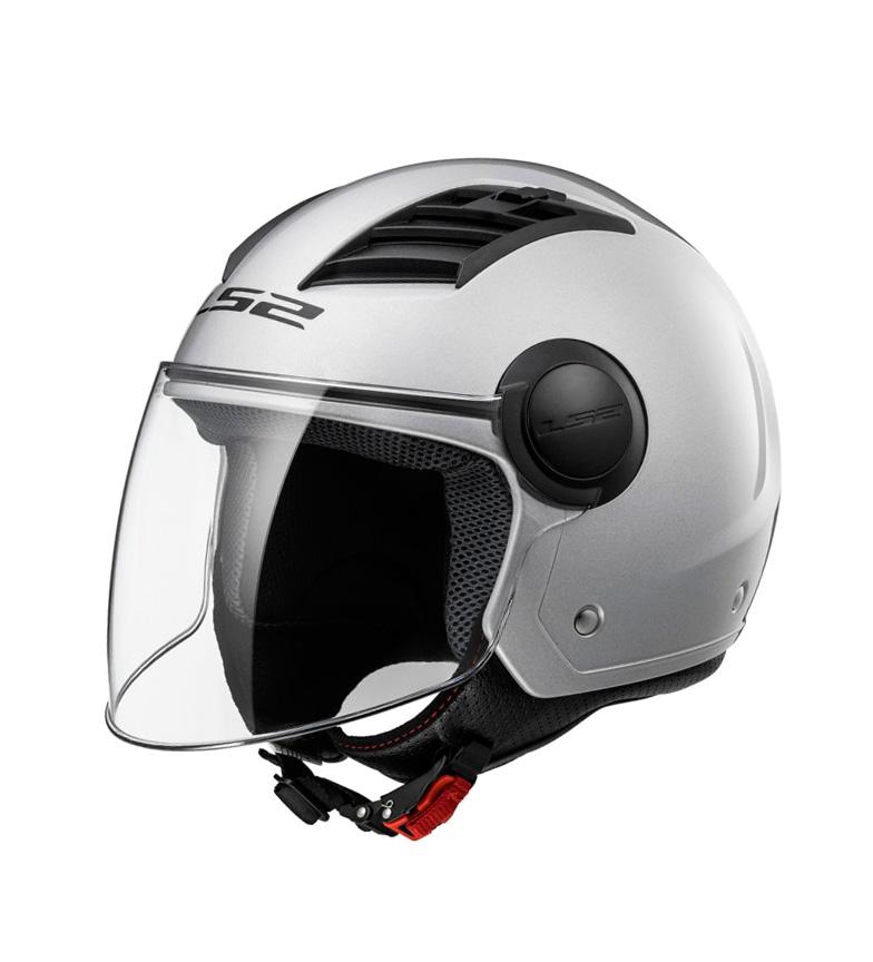 Comprar LS2 Helmets Fluxo de ar de jato de capacete L OF562 sólido prata