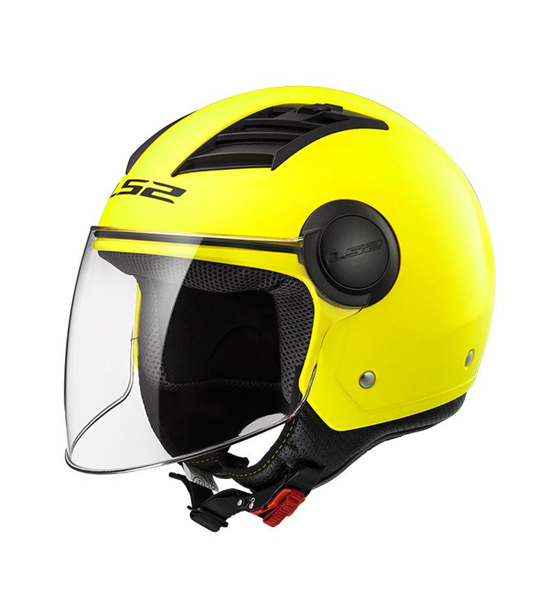 Comprar LS2 Helmets Capacete Jet fluxo de ar G Matt HV OF562 sólido amarelo