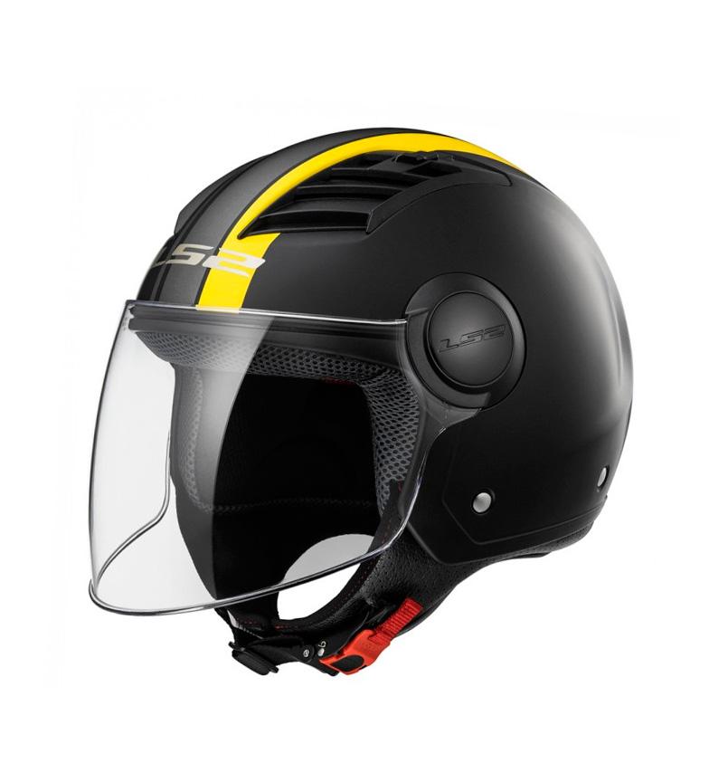Comprar LS2 Helmets Casco Jet Airflow L OF562 MEtropolis Matt Black H-V Yellow