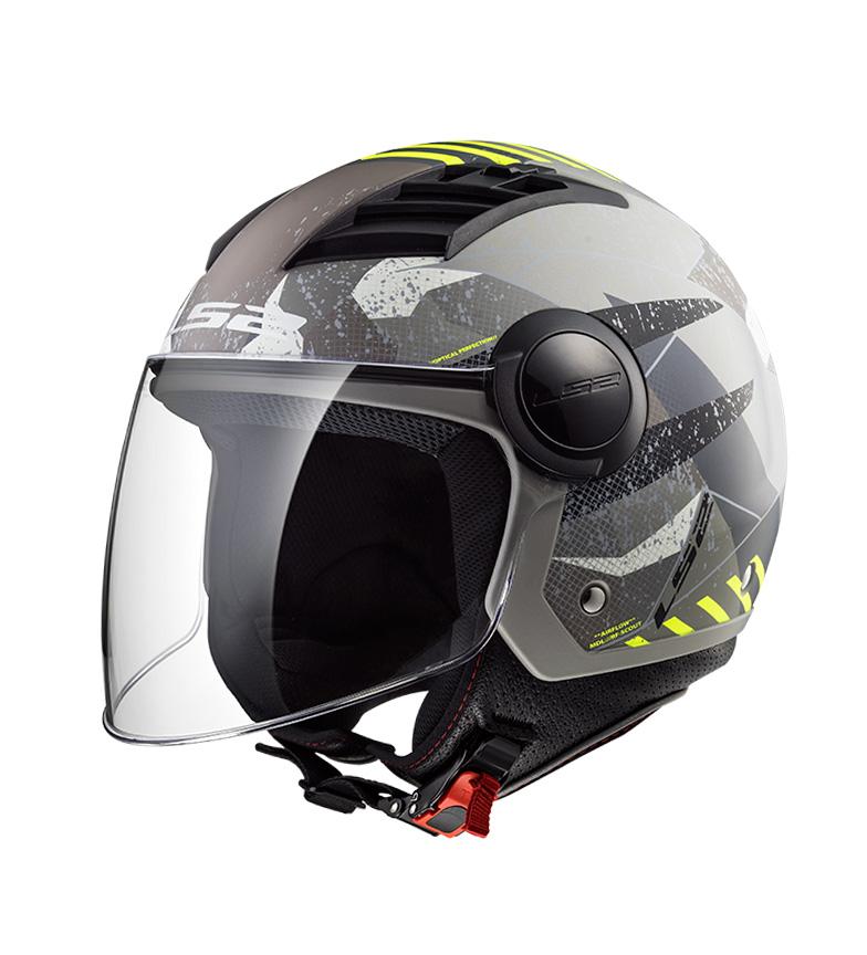 Comprar LS2 Helmets Casco jet Airflow L OF562 Matt Titanium Giallo Camo