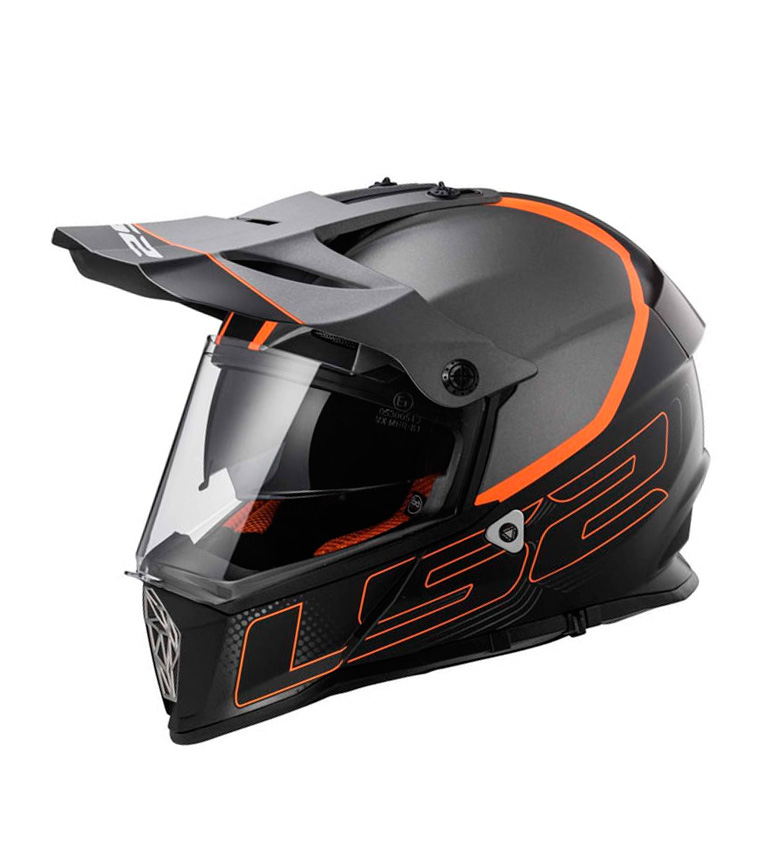 Comprar LS2 Helmets Casco Motocross Pioneer MX436 Element Matt Titanium Black