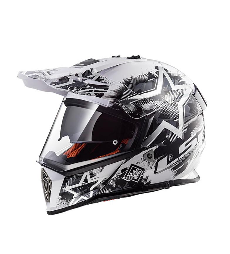 Comprar LS2 Helmets Pioneer MX436 Motocross Capacete Chaos Branco Preto