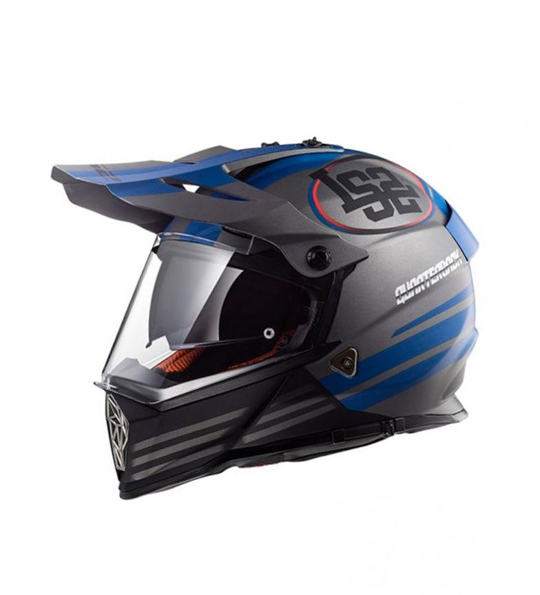 Comprar LS2 Helmets Motocross Helmet Pioneer MX436 Quarterback Matt Titanium Blue