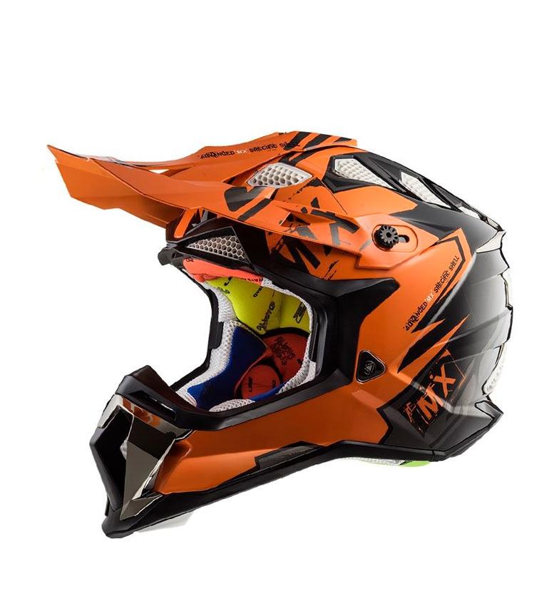 Comprar LS2 Helmets Motocross Subverter MX470 Emperor Black Orange Helmet