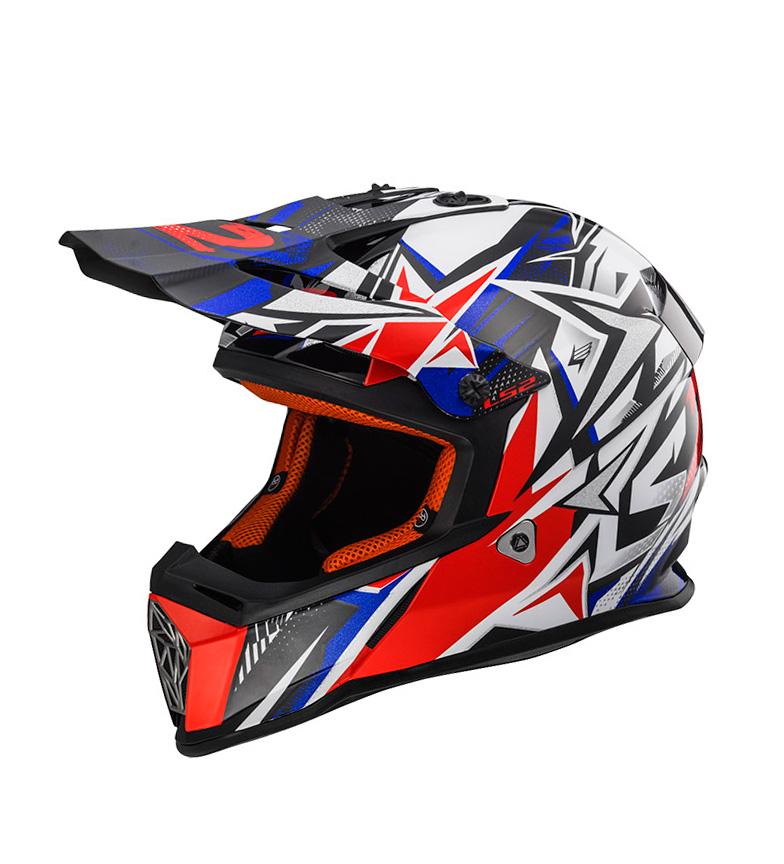 Comprar LS2 Helmets Fast MX437 motocross helmet Strong White Blue Red