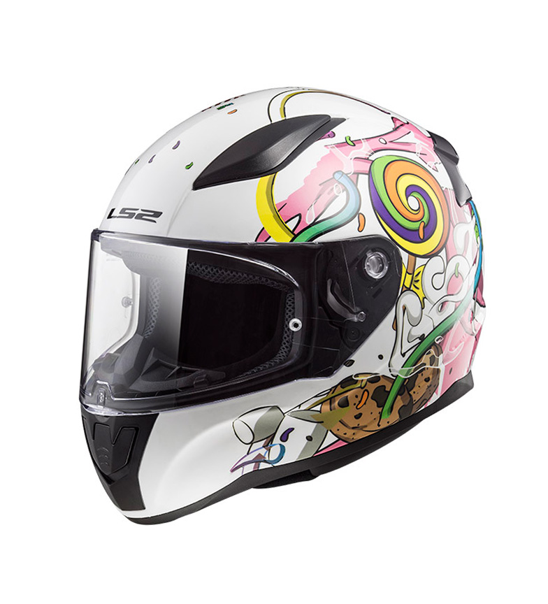 Comprar LS2 Helmets Casco integral Rapid FF353J Crazy Pop White Pink