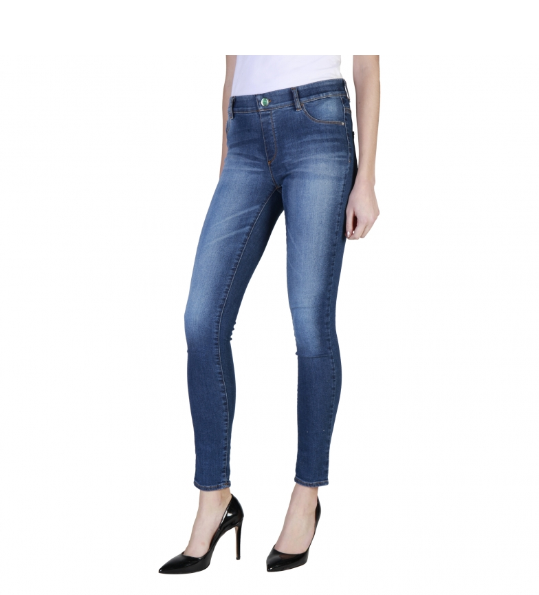 Desgastado Jeans Azul Super Stretch Carrera tsrBQxohdC