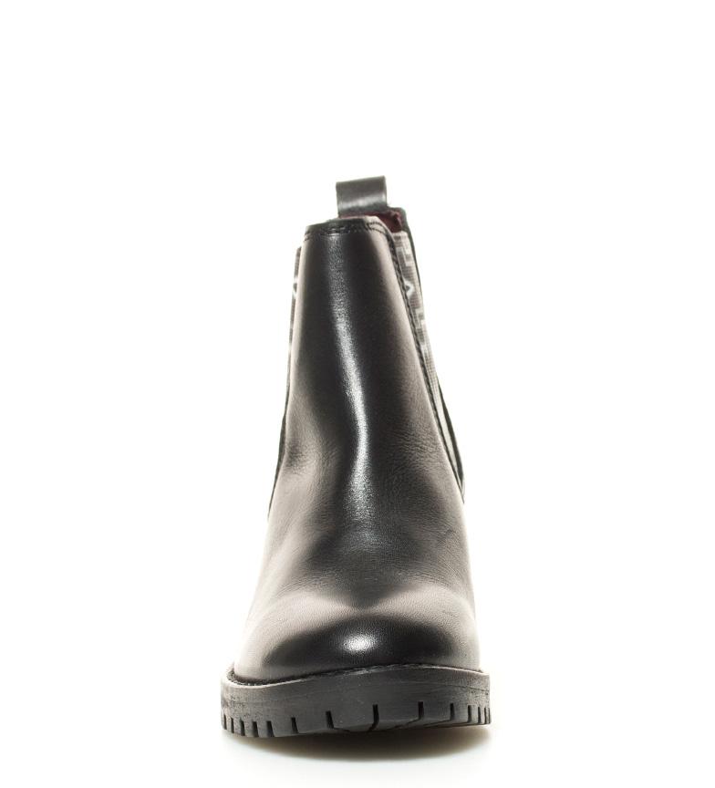 tacón Charly br Botín piel negro Altura de br 5cm Navajo Desigual q1AwxPUU