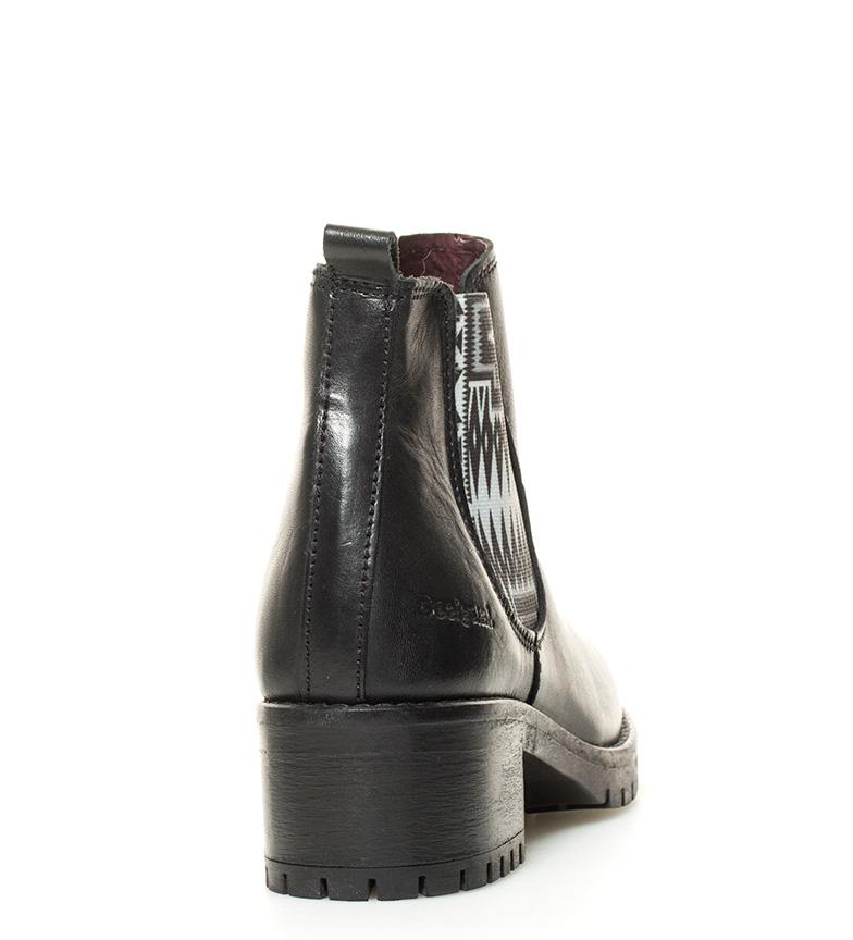 Desigual Botín de piel Charly Navajo negro Altura tacón: 5cm