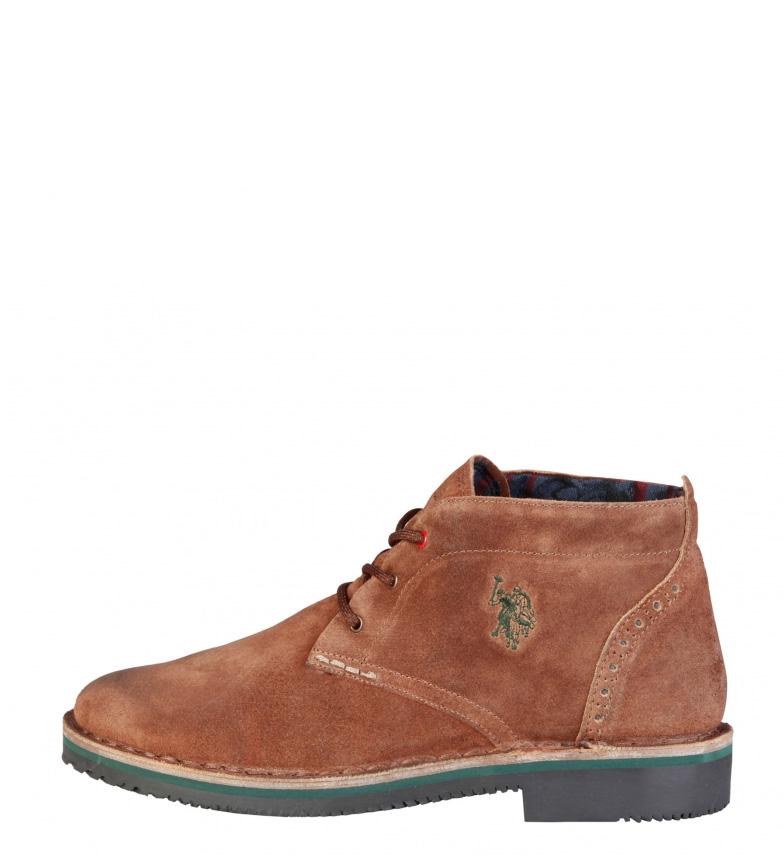 Comprar U.S. Polo Assn. Walt stivali di pelle marrón