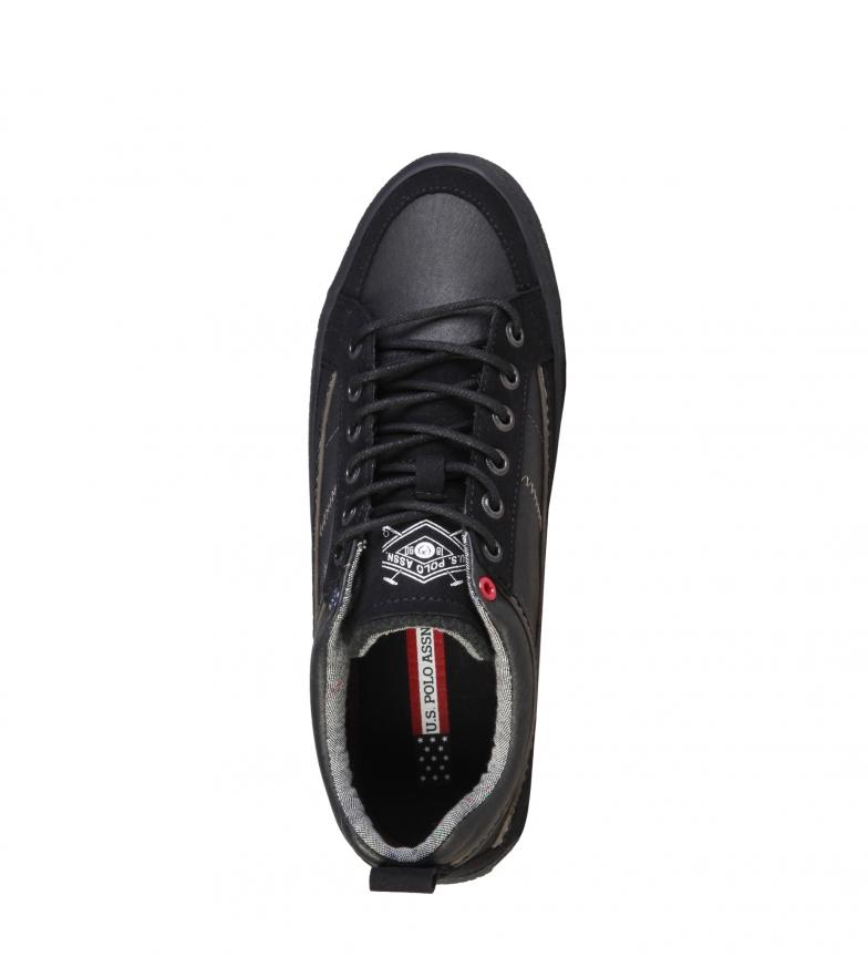 U.S. Polo Zapatillas de piel Vigor negro