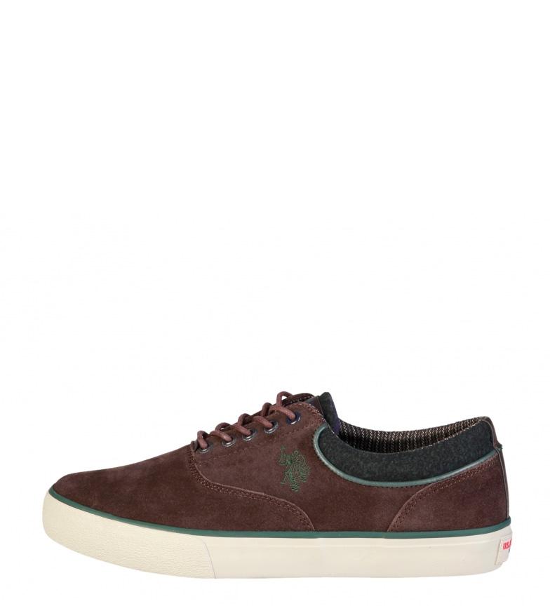 Comprar U.S. Polo Assn. Zapatillas de piel Galan marrón