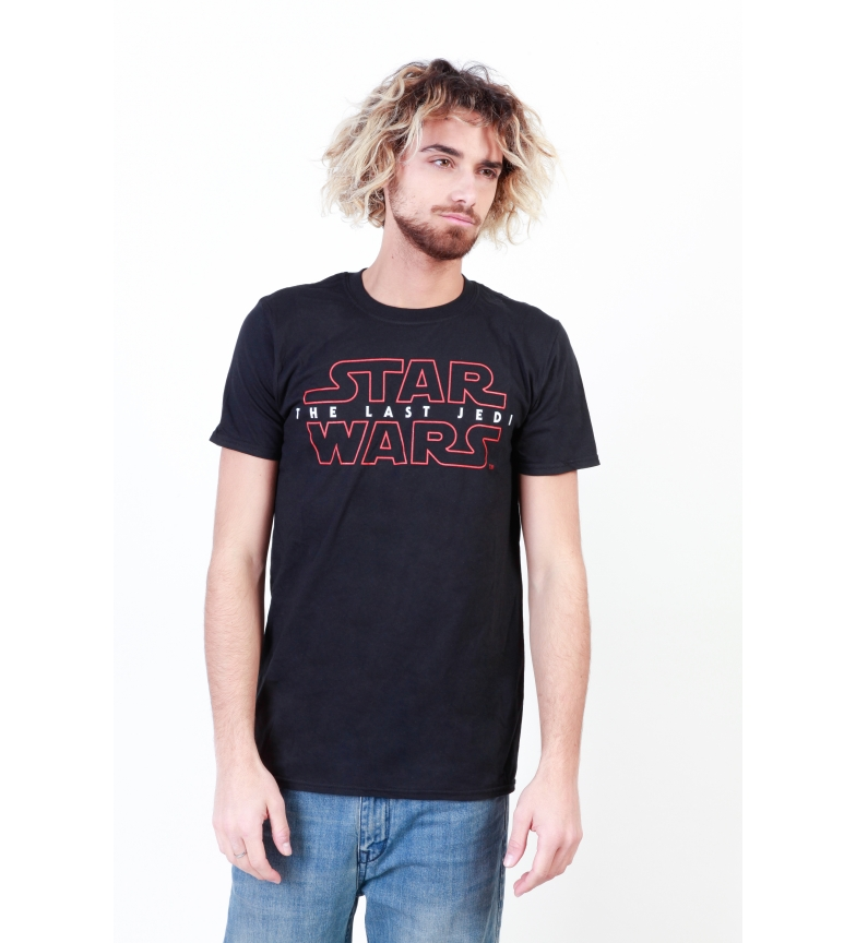 Star Wars Camiseta The Last Jedi negro