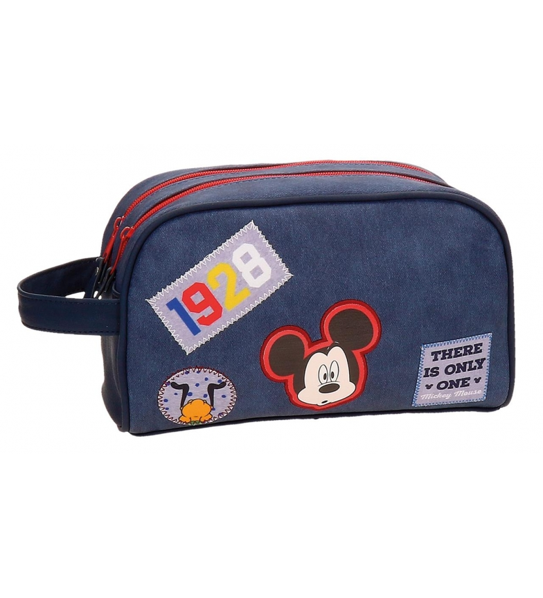 Comprar Mickey Neceser doble compartimento adaptable a trolley Mickey Parches -24x16x11cm-