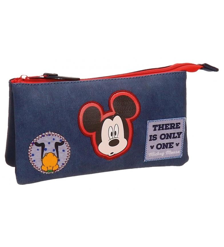 Comprar Mickey Estuche tres compartimentos Mickey Parches -22x12x5cm-