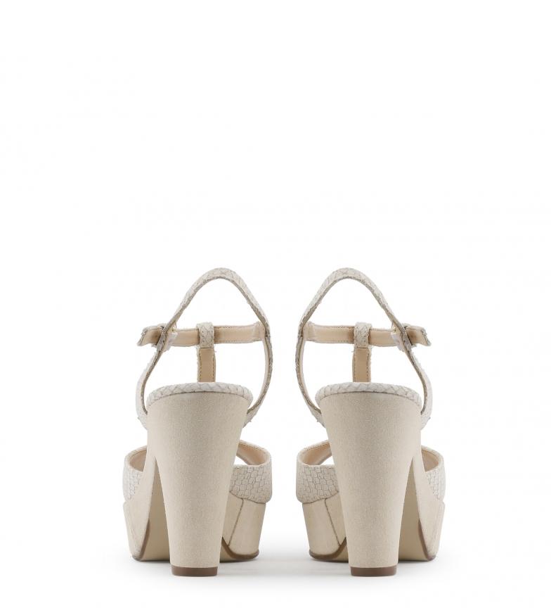 Arnaldo Toscani Sandalias de piel color blanco Altura tacón: 10cm